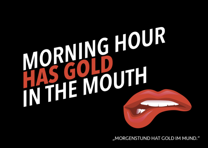 Denglisch Spruch - Gold In The Mouth