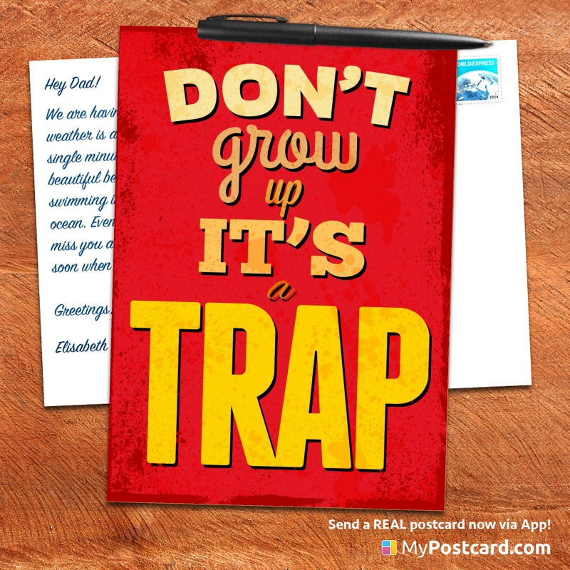 mypostcard_greeting_card_inspirational_quote_vintage_do not grow it is a trap