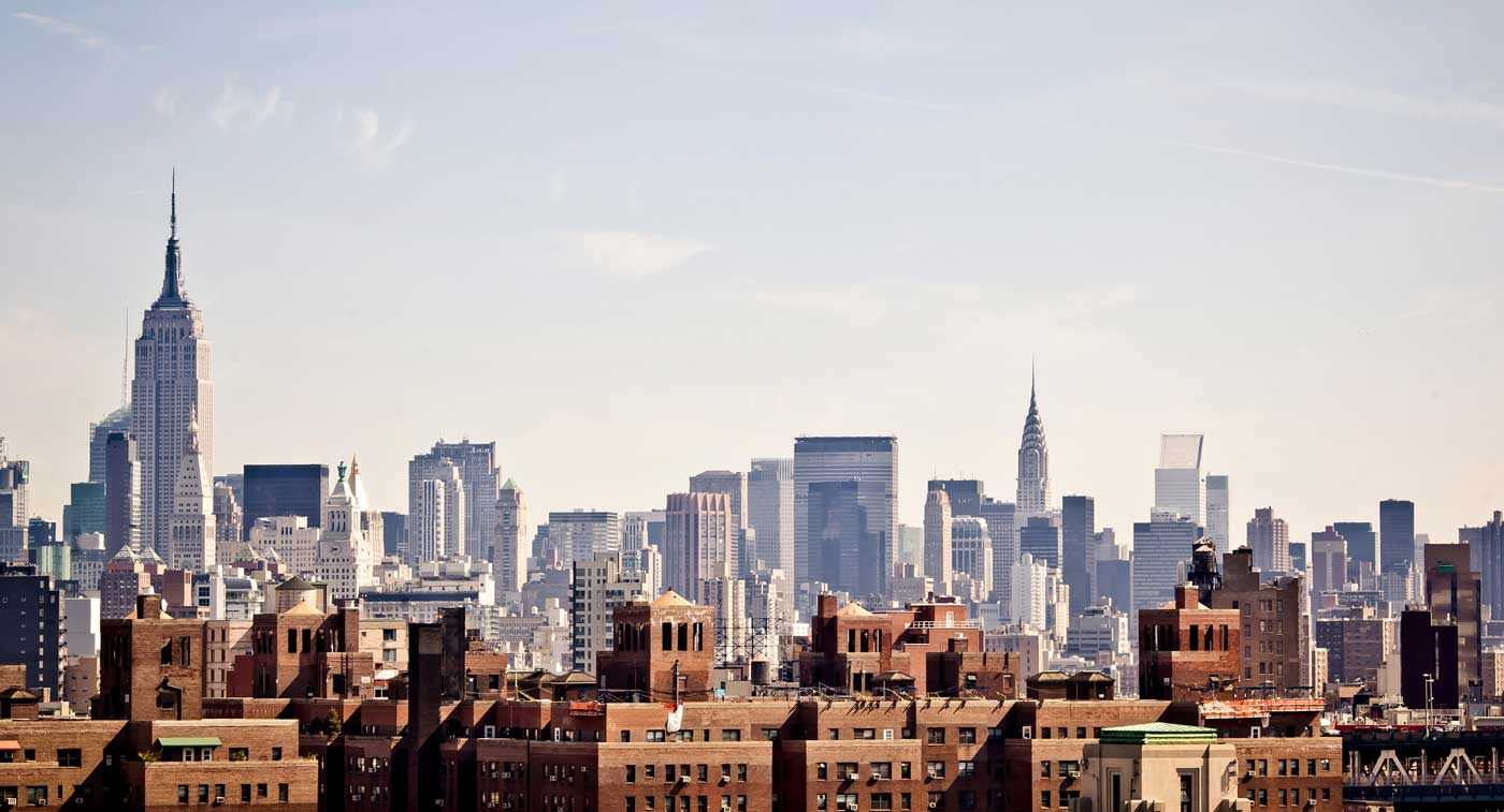 MyPostcard expandiert nach New York, USA: Bild der New Yorker Skyline