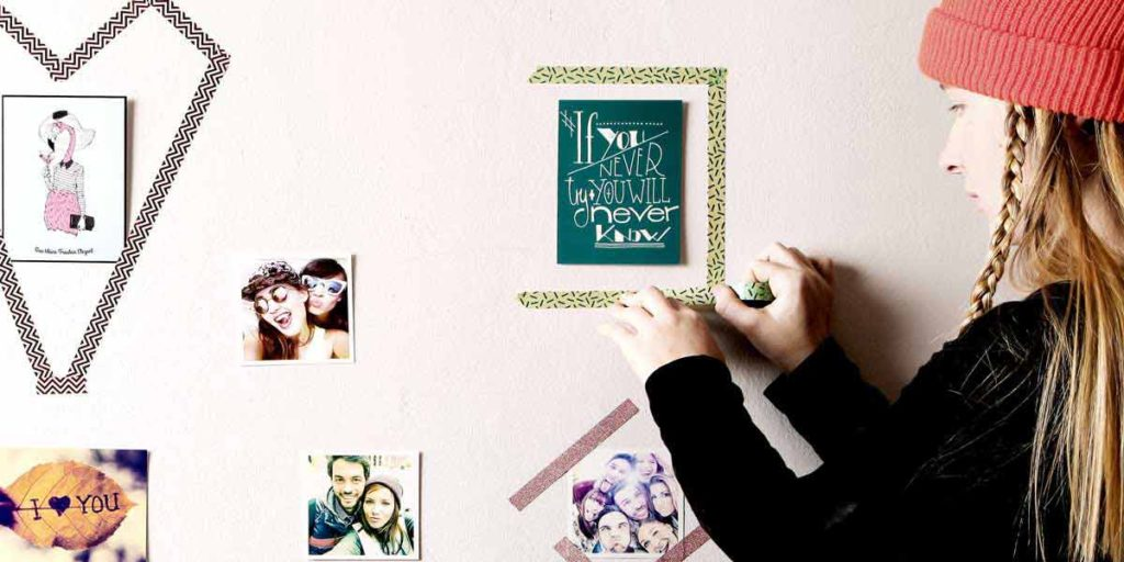 Let loose your creativity - Washi Tape Frames