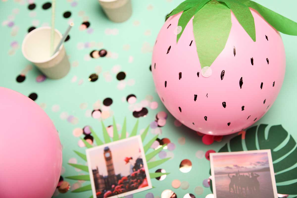 Eine s e luftballon deko tropical nights diy 3 for Deko foto