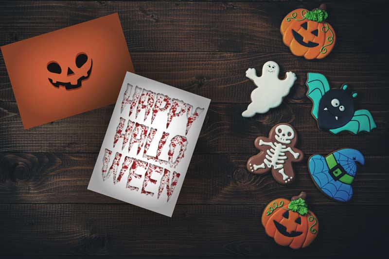 Create your own Invitation Postcards for your Halloween Party