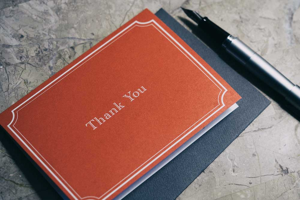 Sending Thanksgiving Postcards to say Thank you