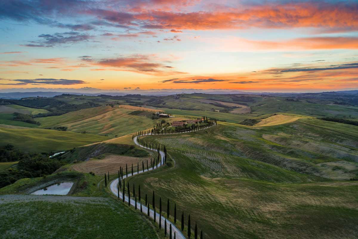 The Tuscany is one of the best bicycle routes in europe