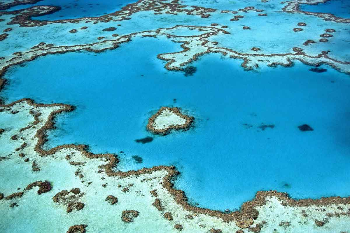 Great Barrier Reef is one of the best Skydiving Places worldwide