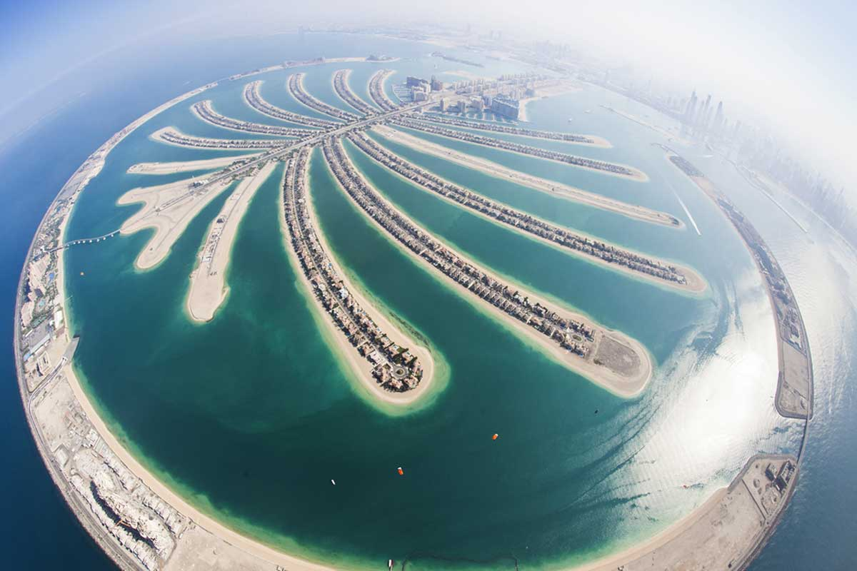 Palm Jumeirah is a really good Skydiving Places