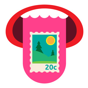 Post fun facts #2 - Lick the stamp and eat 1/10 calorie