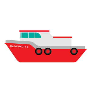 Post fun facts #4 - A Post office on water with a boat