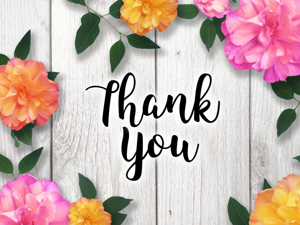 Colourful Thank You Messages