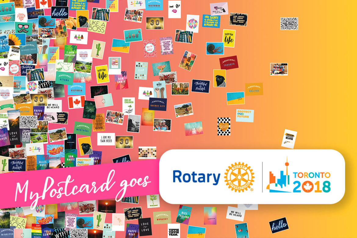 MyPostcard goes Rotary Convention Toronto 2018