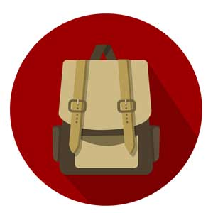 coolest places on earth - backpack icon