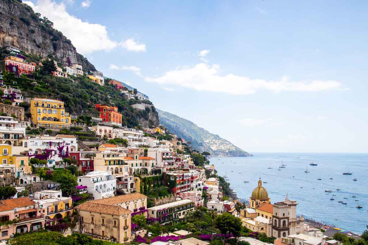 Positano at the Amalfi coast - The arrival