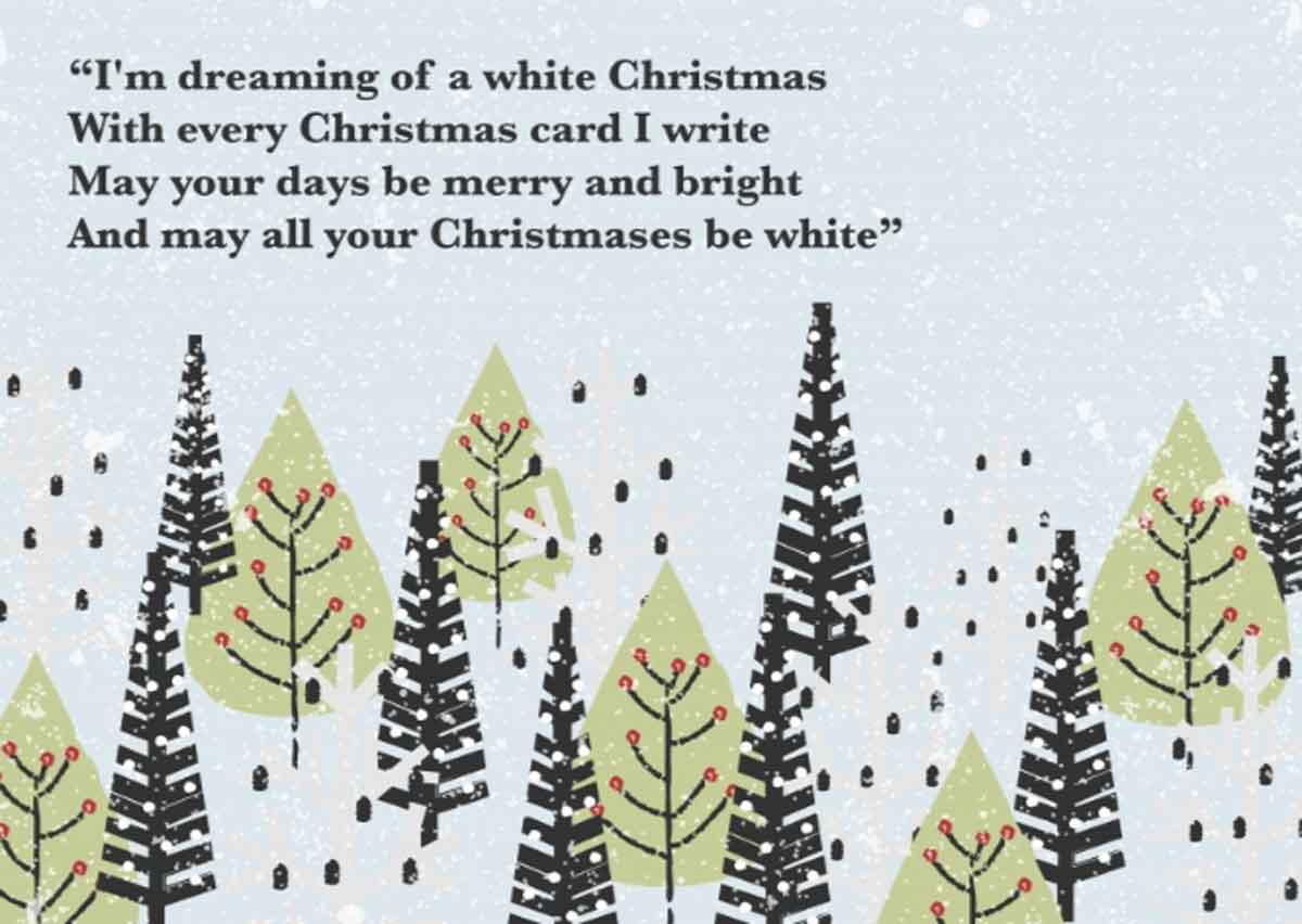 Beautiful christmas greetings - Dreaming of a white Christmas