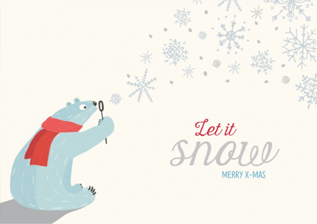 Beautiful christmas greetings - Let it snow