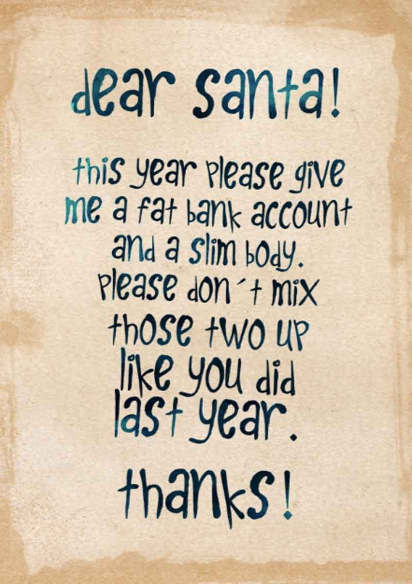 Beautiful Christmas greetings - Letter to Santa Claus