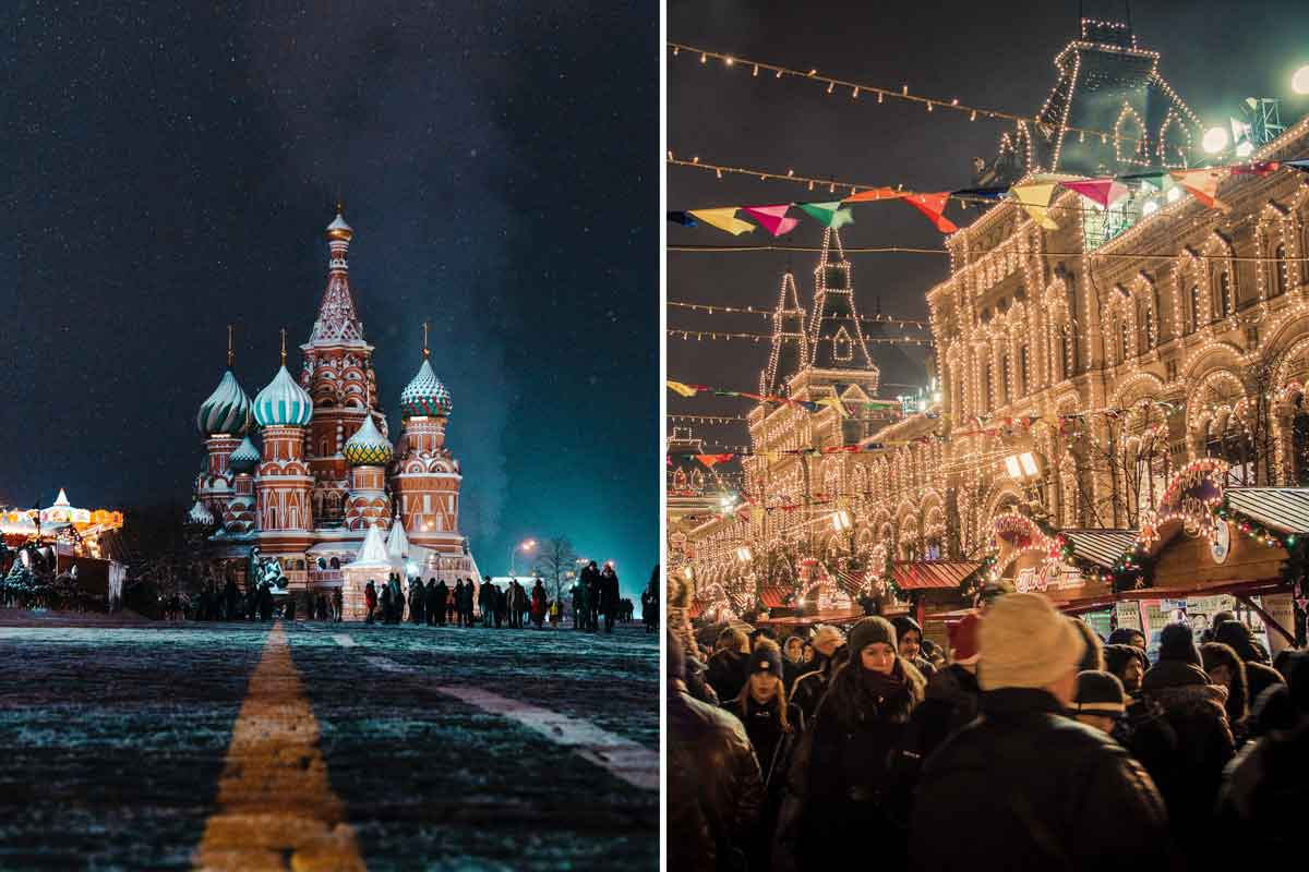Craziest places to visit in december - Moscow, Russia