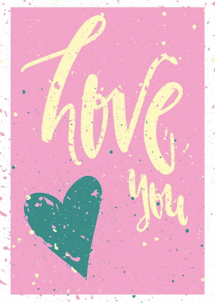Valentine's Day Greetings - Love you graphic motif