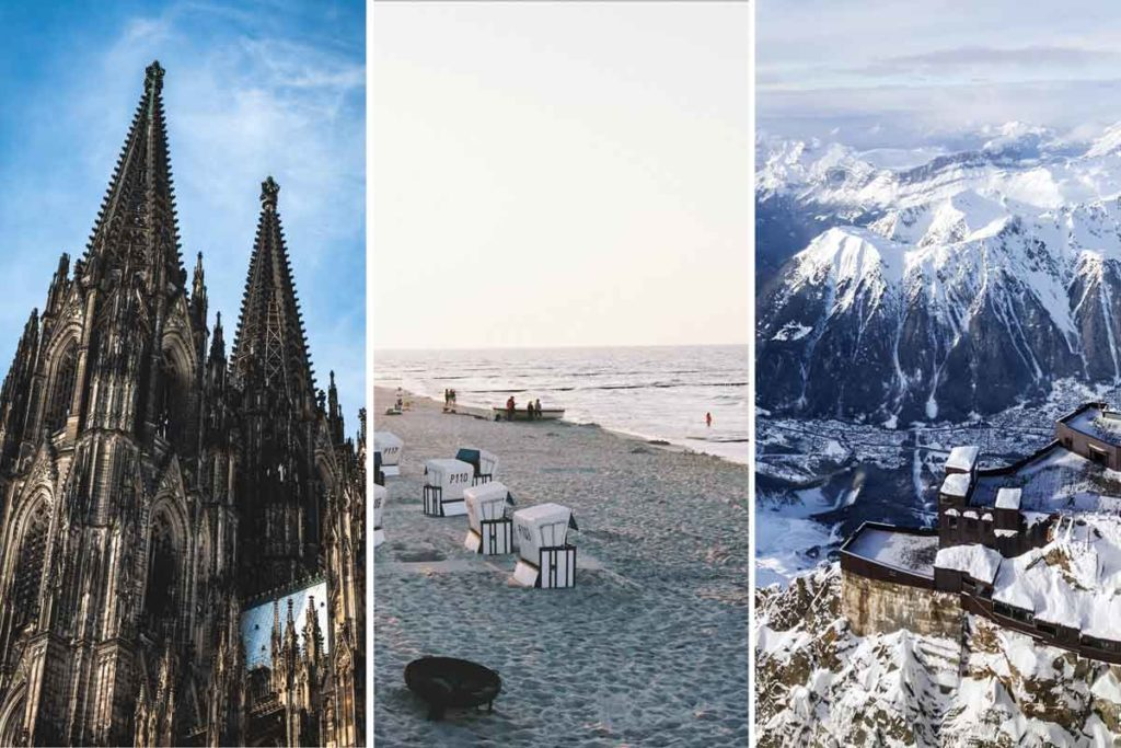 Places to travel with kids - different destinations and landscapes in Germany