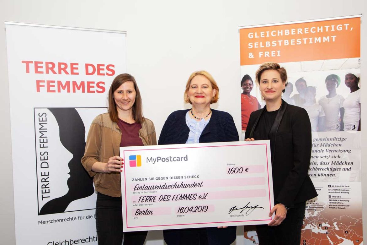 MyPostcard X TERRE DES FEMMES - empower by mail and support the fund-raising campaign