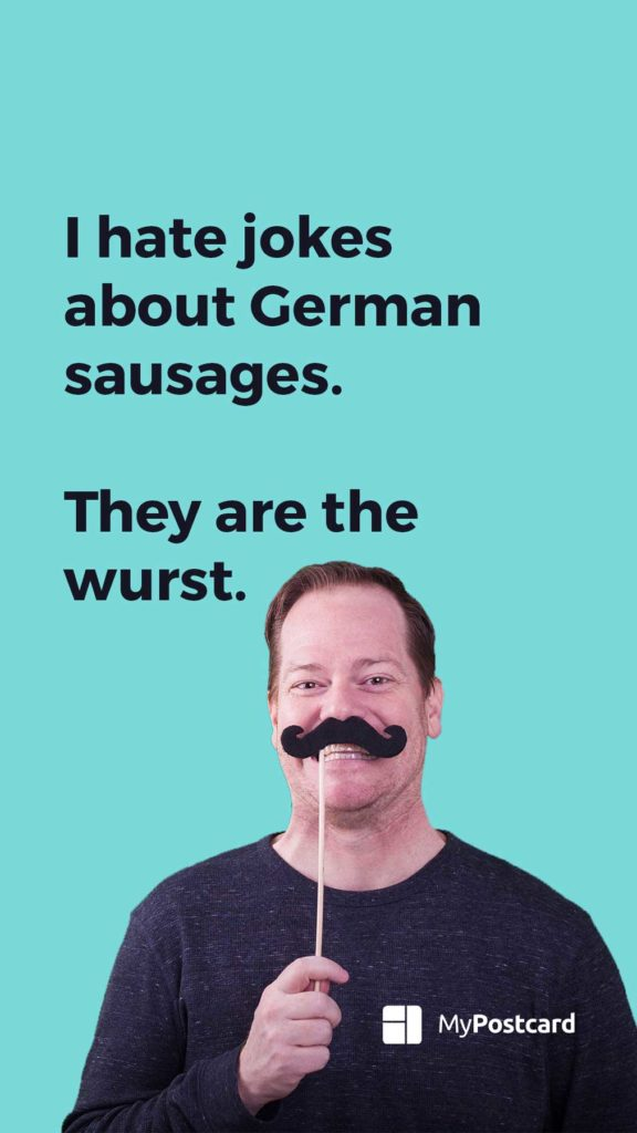 List of the best and funniest dad jokes - Jokes about German sausages