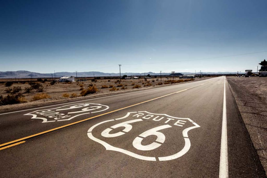 Route 66 as one of the most famous routes