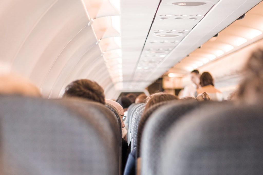 Situation of an airplane can be stressing for toddlers