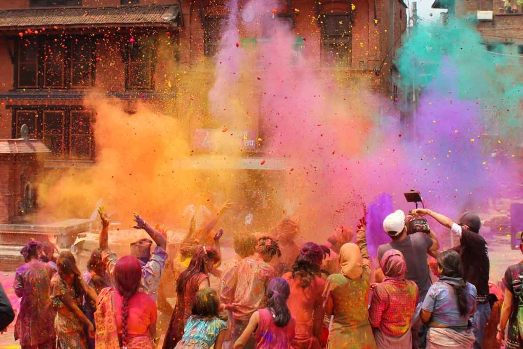 Holi as one of the most famous cultural festivals worldwide