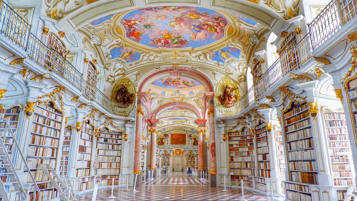 The most beautiful libraries worldwide - Admont Abbey Library – MyPostcard  Blog