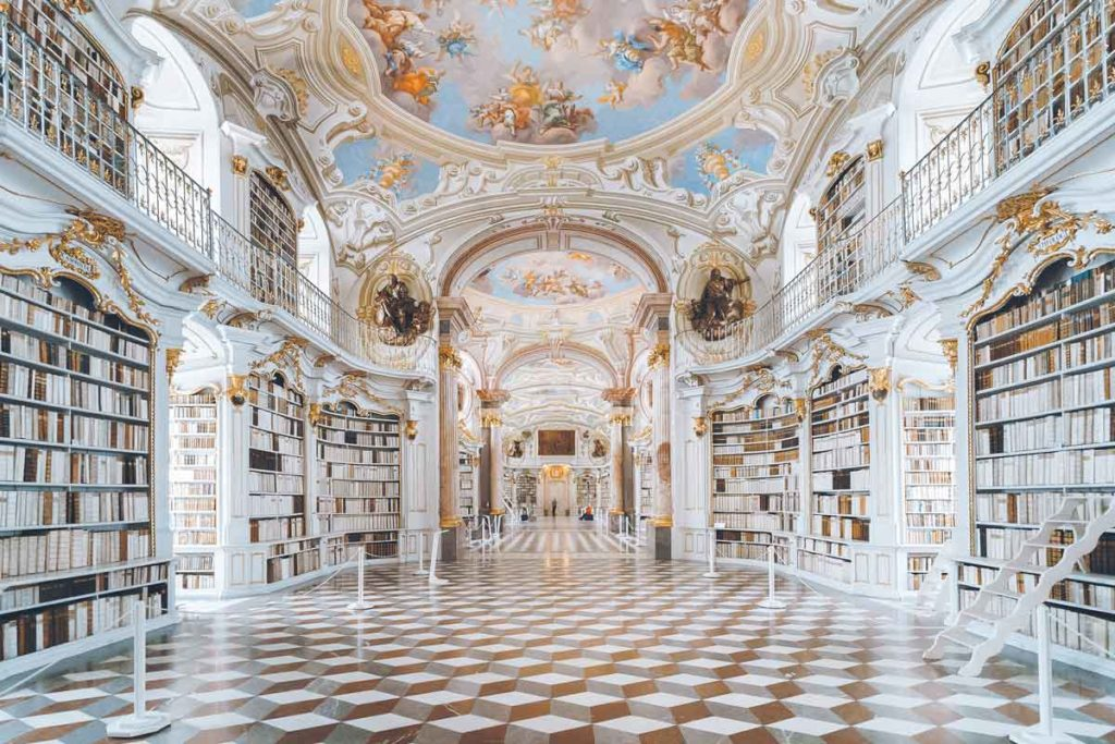 One of the most beautiful libraries, the Admont Abbey Library