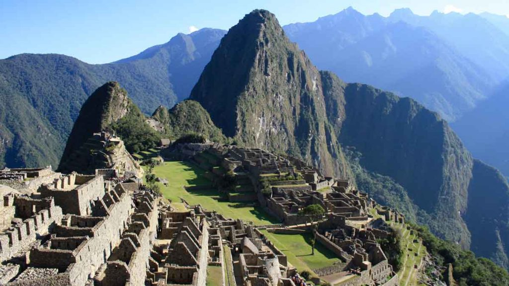 Machu Piccho as one place to visit in 2020, aerial view