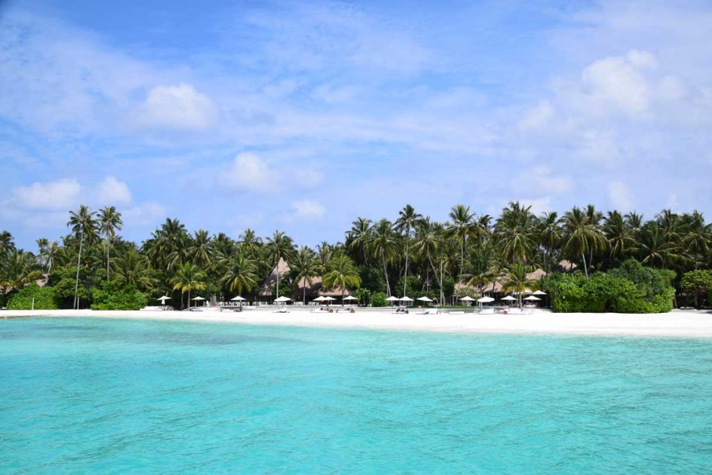 Beautiful tropical beach on the Maldives