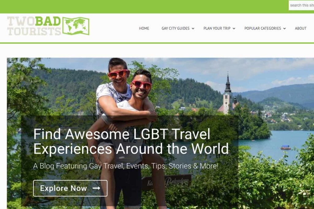 Bloggers from Two Bad Tourists feature carrying one another