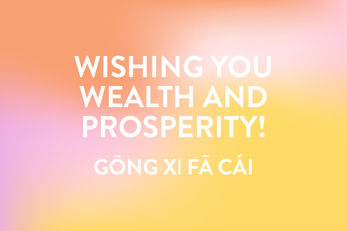 Wishing you wealth and prosperity - a saying for Chinese new year greetings