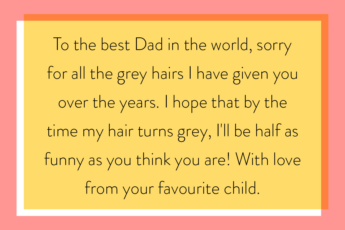 One of the funnier Father's Day messages for a dad who's a joker