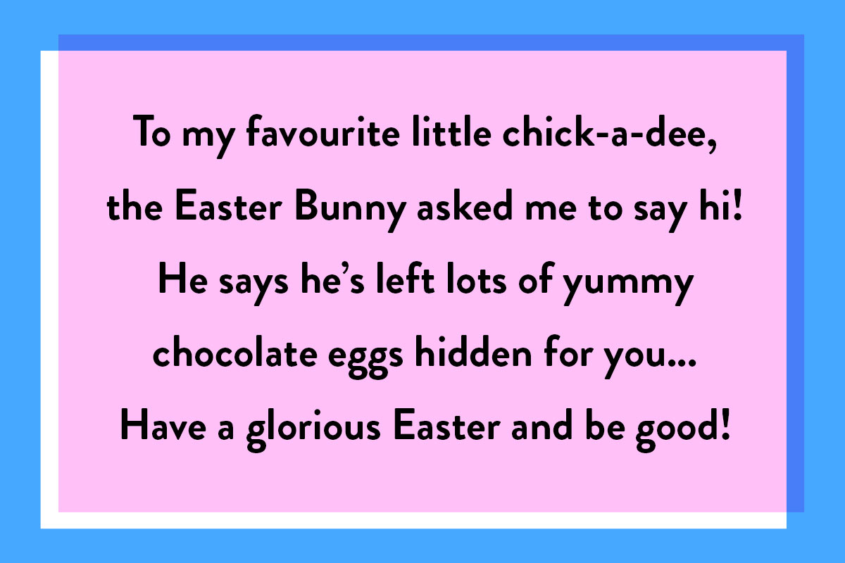 A quote for Easter greeting messages for children