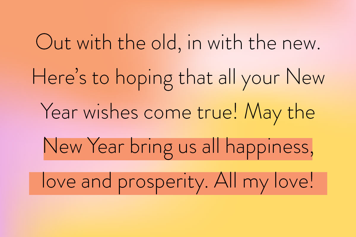 Quote of Happy New Year wishes for your family (or friends!)
