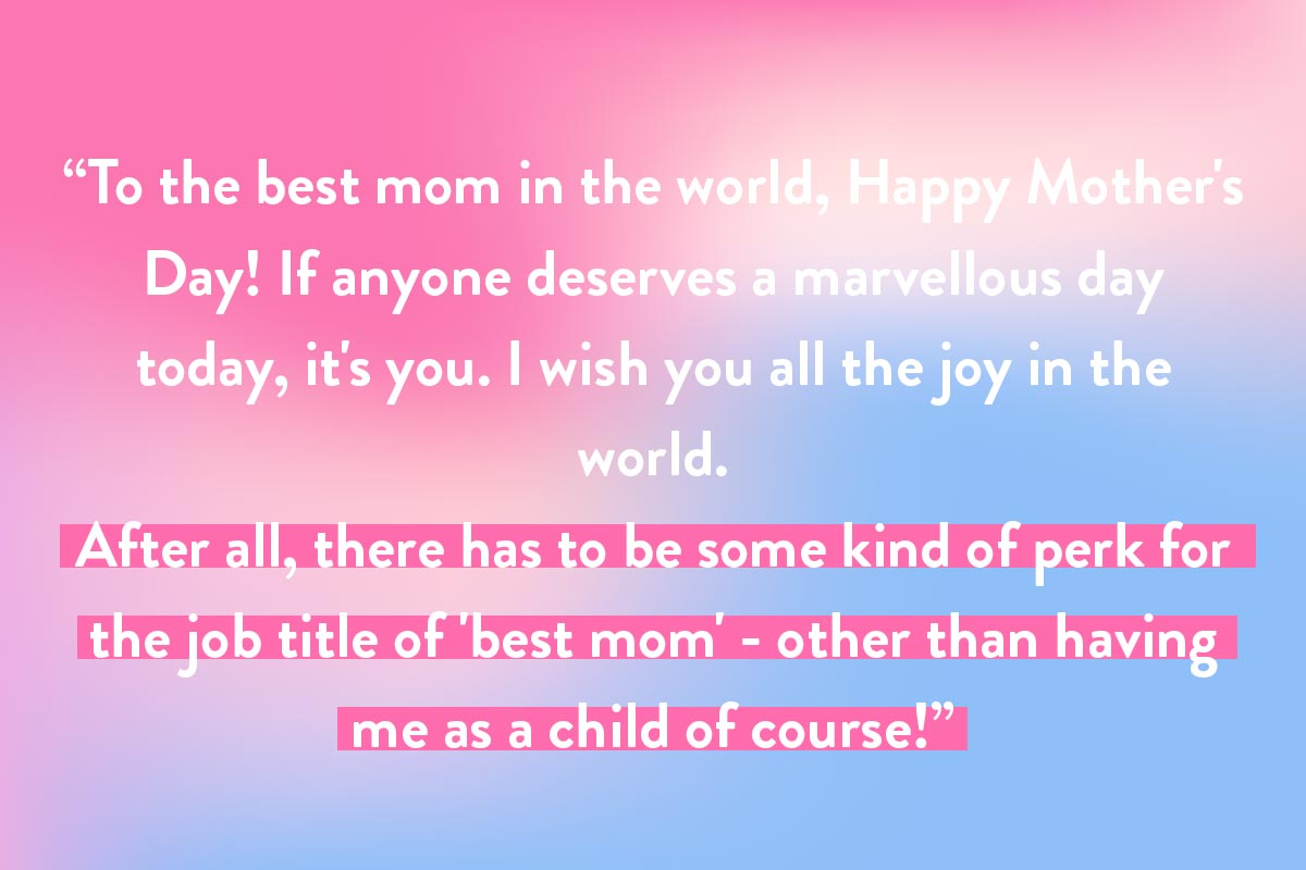 Card quote for Happy Mother's Day - best mom