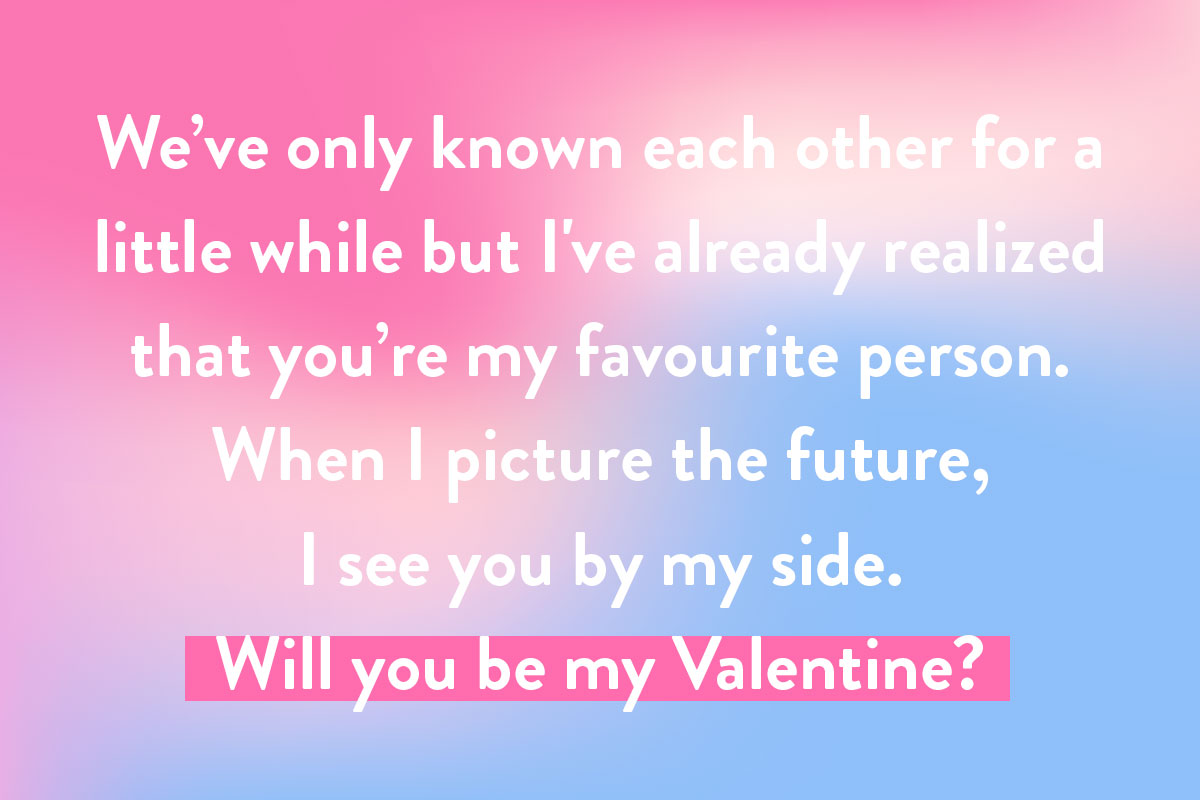 writing valentine's day cards for a crush example