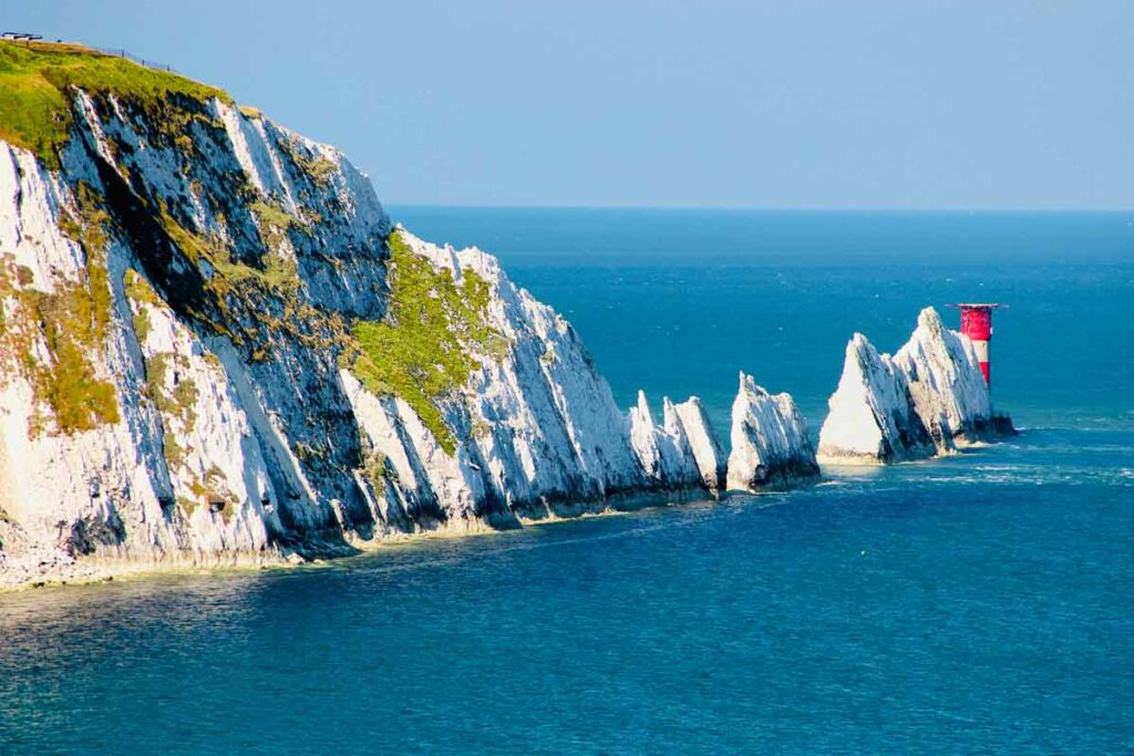 The famous Needles of the Isle of the White make for one of the best weekend trips from London