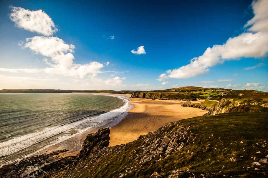 The coast of the Gower Peninsula in Wales is just close enough for a quick visit
