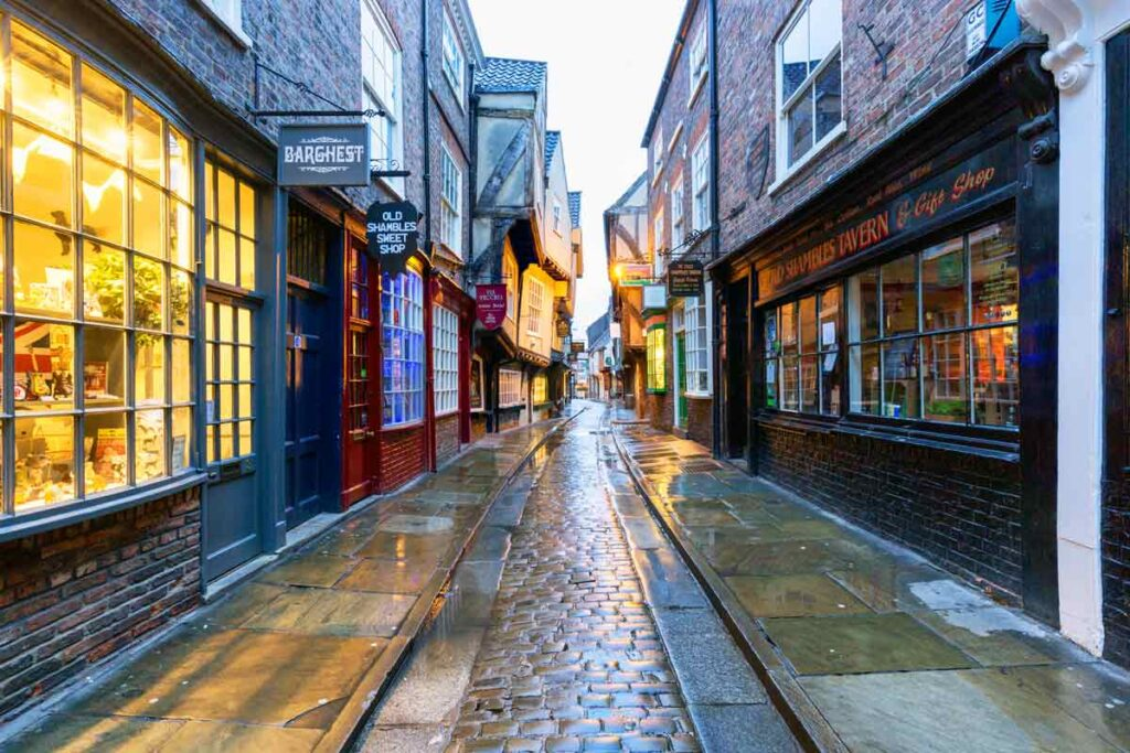 The Shambles Lane in York is always worth a visit