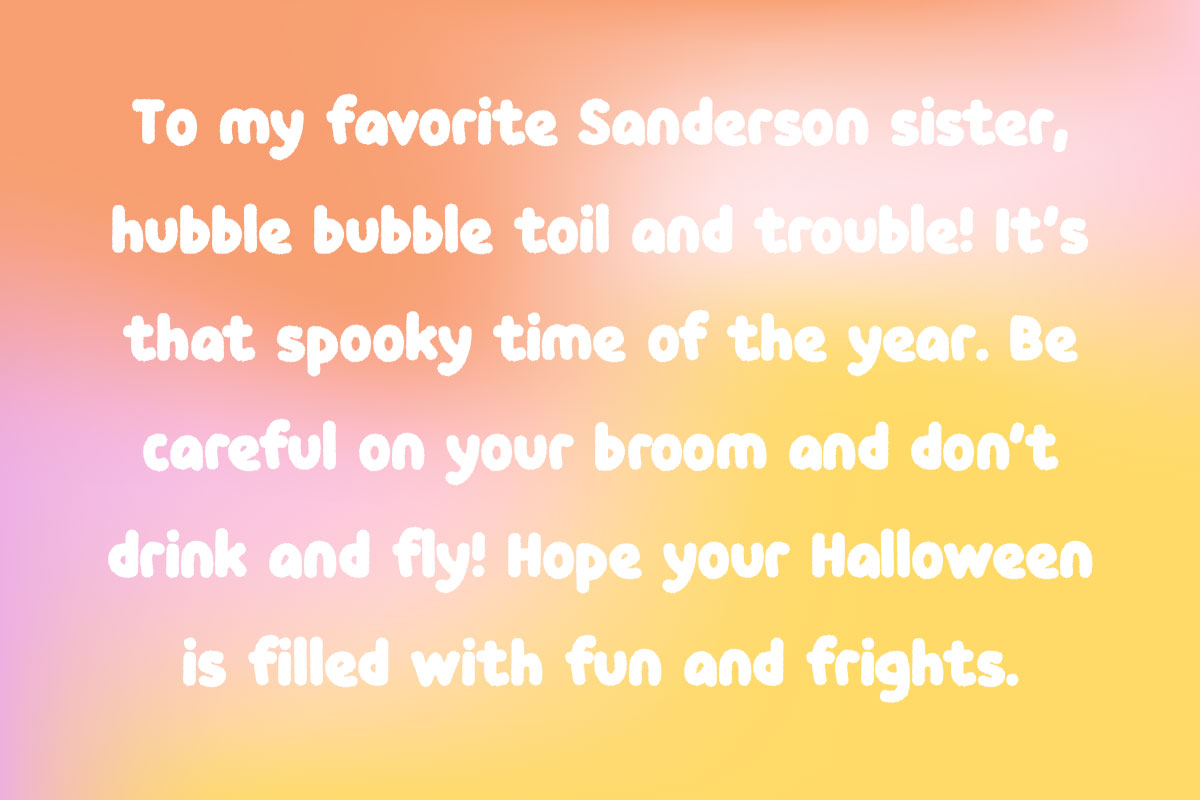 Inspiration of Halloween sayings for cards for friends