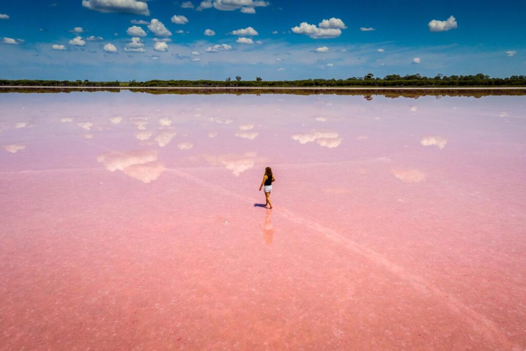 The beautiful Pink Lakes of Victoria, Australia is an Instagrammable spot in Oceania