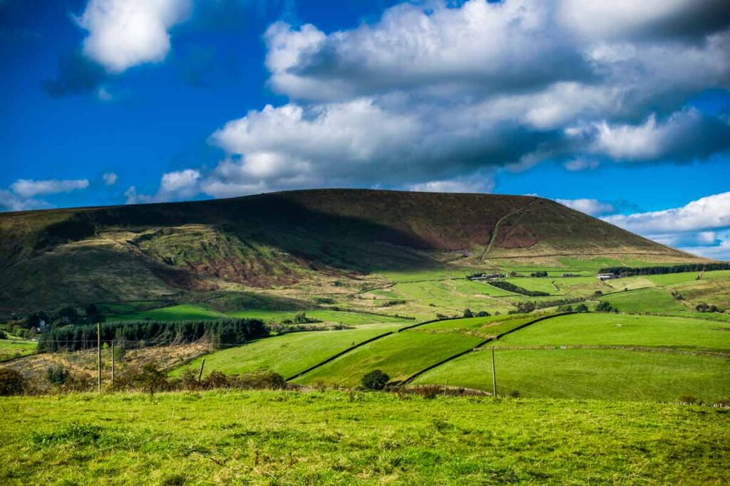 The green rolling hills of Pendle in England are a fine example of one of the best rural destinations in the UK
