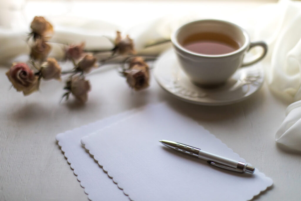 Writing letters in a great way of keeping up with friends