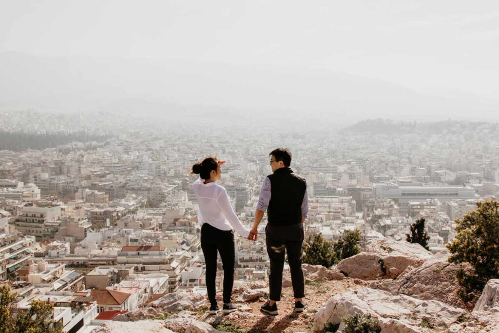 Top travel Instagram accounts couple in Athens