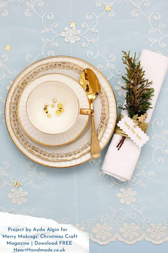 easy christmas crafts like this napkin ring are great for dinner parties