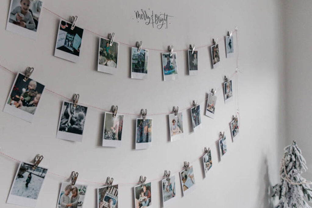 An Easy Christmas Activity calendar using photo prints with activities