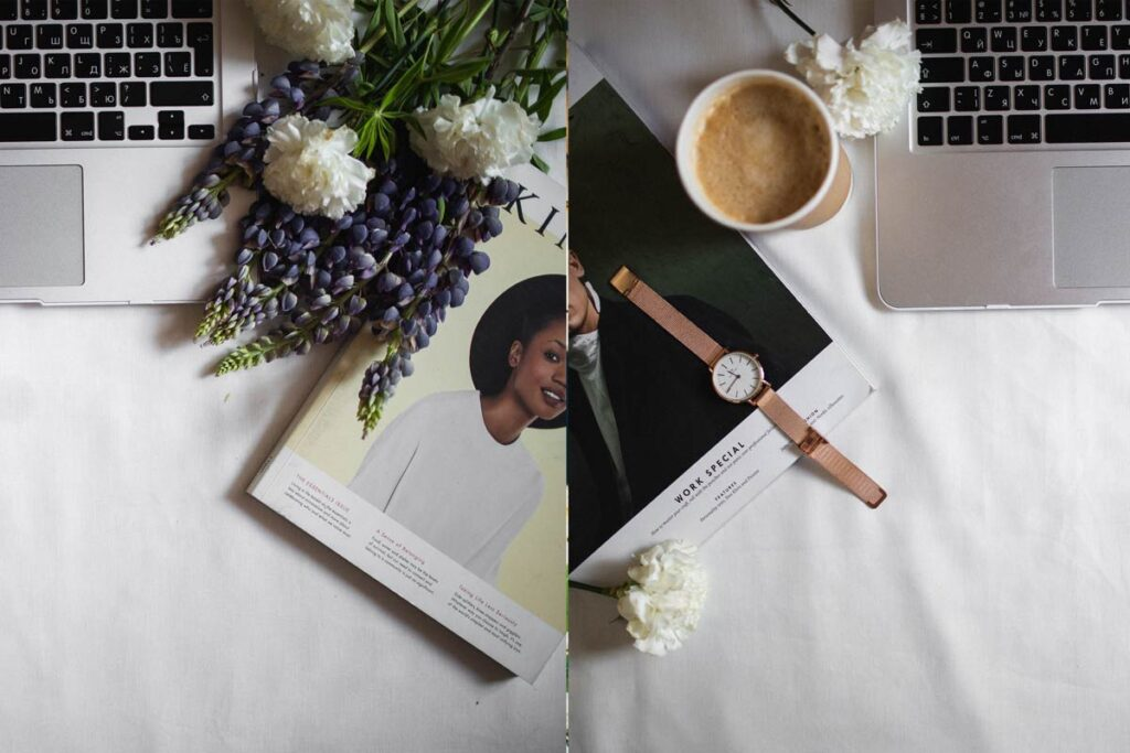 Two ideas for your flat lay arrangements