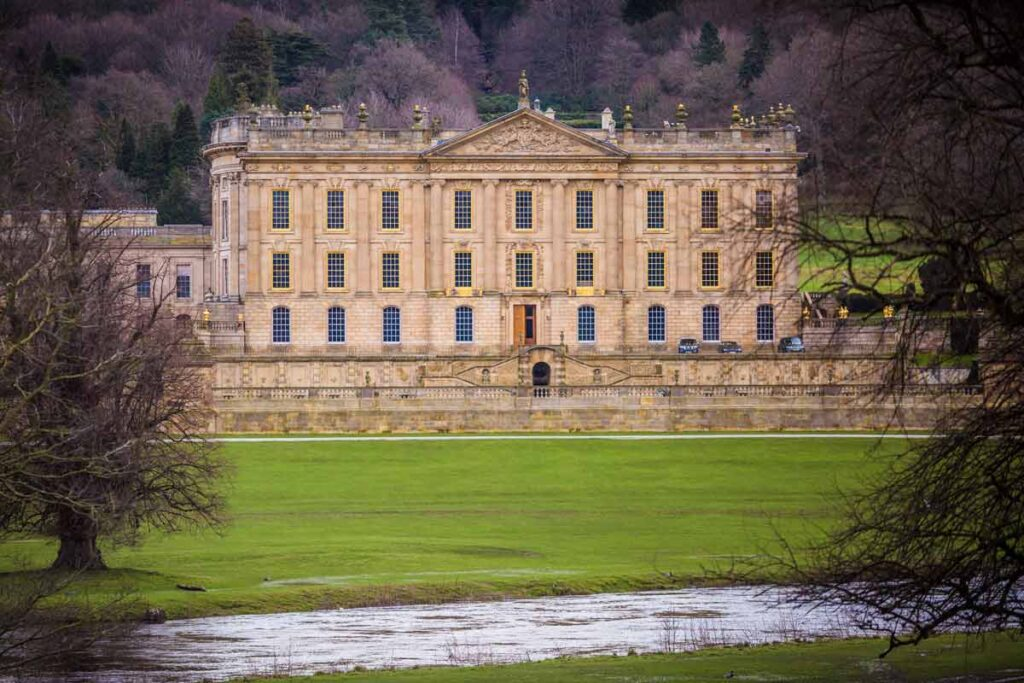 Chatsworth House, one of the famous film locations in Pride and Prejudice